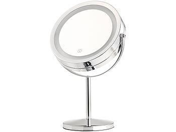 sichler beauty rasierspiegel led kosmetikspiegel 2 spiegelfl chen akku 3x 7x vergr erung. Black Bedroom Furniture Sets. Home Design Ideas