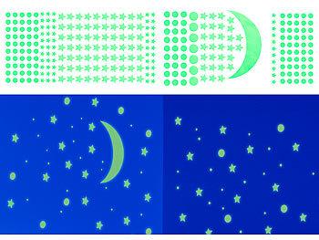 Infactory Leuchtfolien Phosphoreszierende Sternenhimmel Wandsticker 600er Set Fur Raufaser Leucht Sterne