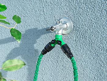 Wasserhahn Gartenschlauch Y-Adapter 2 Wege Verteiler Garten Schlauchkupplung