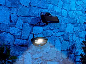 lunartec licht ohne strom solar led strahler pir bewegungssensor 16 leds 100 lm 1 2 w ip44. Black Bedroom Furniture Sets. Home Design Ideas