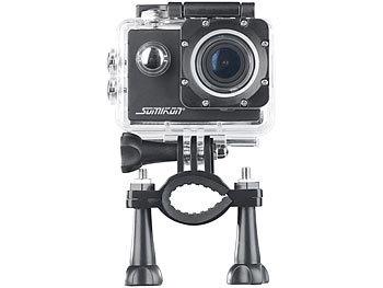 UHD-Action-Cam DV-3717 mit WLAN, Sony-Bildsensor und App, IPX8 10