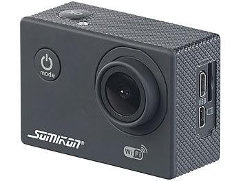 UHD-Action-Cam DV-3717 mit WLAN, Sony-Bildsensor und App, IPX8 4