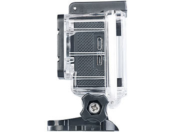 UHD-Action-Cam DV-3717 mit WLAN, Sony-Bildsensor und App, IPX8 7