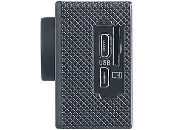 UHD-Action-Cam DV-3717 mit WLAN, Sony-Bildsensor und App, IPX8 8