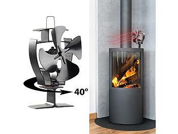 Stromloser Kaminofen-Ventilator mit 40°-Oszillation, für 70 - 350 °C / Ofenventilator