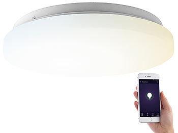 WLAN-LED-Deckenleuchte für Amazon Alexa & Google Assistant, CCT, 18 W / Deckenlampe
