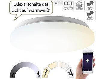 WLAN-LED-Deckenleuchte für Amazon Alexa & Google Assistant, CCT, 24 W / Deckenlampe