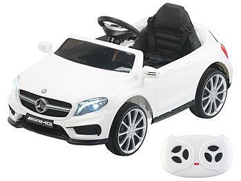 Kinderauto Mercedes-Benz GLA 45, bis 7 km/h, Fernsteuerung, MP3, weiss / Kinderauto