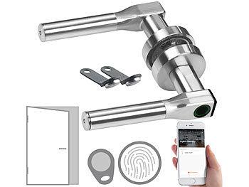 Sicherheits-Türbeschlag mit Fingerabdruck, Transponder, App, DIN links / Türschloss