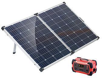 revolt Solaranlage: Powerbank & Solar Konverter mit mobilem