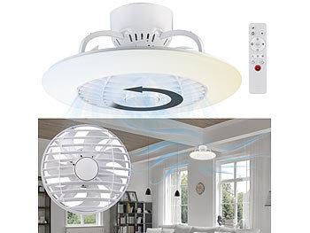 Sichler Ventilator Lampe: 2in1 Deckenleuchte & Ventilator