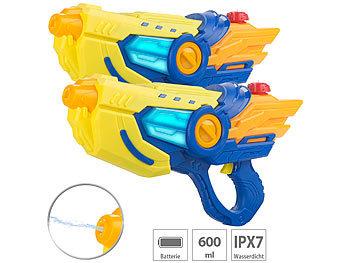 Speeron Wasserpistole 600 ml Batteriebetriebene Wasserpistole Batteriebetriebene Wasser-Spritzpistole mit LED-Lichteffekt