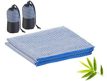 2er-Set schnelltrocknende, leichte Bambus-Handtücher, 80 x 40 cm / Handtuch