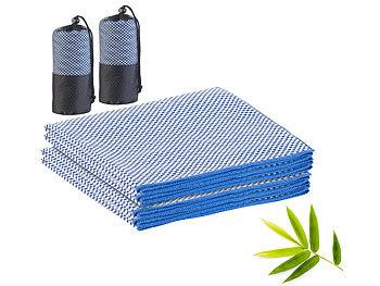 2er-Set schnelltrocknende, leichte Bambus-Handtücher, 130 x 80 cm / Handtuch