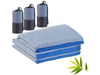3er-Set schnelltrocknende, leichte Bambus-Handtücher, 3 Grössen / Handtuch