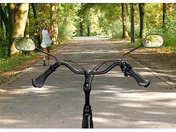PEARL Fahrrad Spiegel: 4er Set Fahrrad Rückspiegel mit