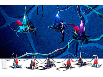 Hexenhut-Lichterkette mit Farbwechsel-LEDs für Halloween / Halloween Beleuchtung