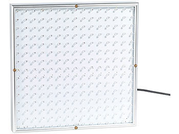 lunartec pflanzenlampe profi led pflanzen wachstums leuchtpanel mit 225 leds 250 lumen led. Black Bedroom Furniture Sets. Home Design Ideas