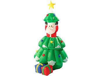 Aufblasbarer weihnachtsbaum mit beleuchtung