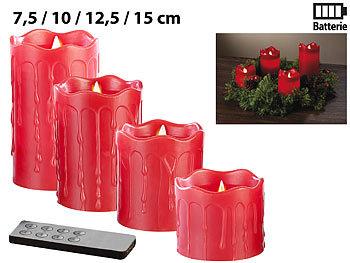 Britesta LED Echtwachs Kerzen mit Timer und Fernbedienung