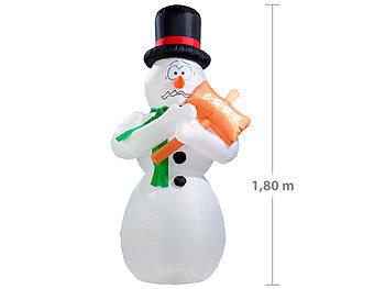 Weihnachtsdeko Aussen Schneemann.Infactory Aufblasbarerer Schnemann Selbstaufblasender Bibber