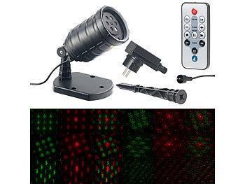 Motiv-Laser-Projektor mit 6 Muster, Timer, Fernbedienung, IP65 / Laser Projektor