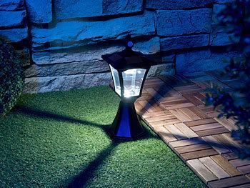 IP44 100 lm Dämmerungssensor Gartenlampe: Solar-LED-Standleuchte PIR-Sensor