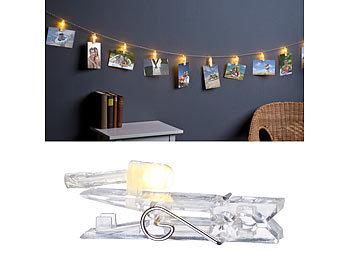 ... Lunartec LED Foto Clips Lichterkette Mit 40 Klammern,  Batteriebetrieben, 10 M ...