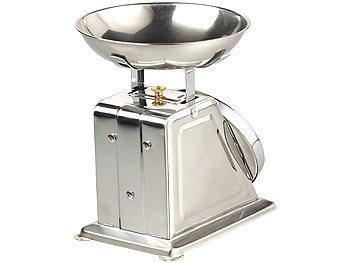 Analoge Retro-Küchenwaage aus Metall im nostalgischen Design mit Tara-Funktion