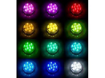 RGB wasserdichte Korrosionsschutzlampe F/ür Springbrunnen Aquarium Schwimmbad 12V Happt Led Unterwasserleuchten Pool