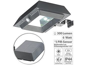6 LED Hell Solarenergie Licht Bewegungsmelder Wandlicht Heim Außen Garten Lampe