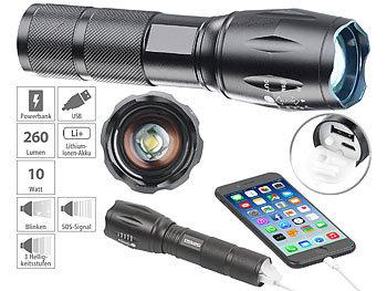 LED-Taschenlampe aufladbar für Zigarettenanzünder 12 V 2,5 h Leuchtdauer