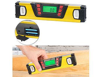 Digitale Wasserwaage mit Winkel-Messfunktion und LCD-Display, 25 cm / Wasserwaage