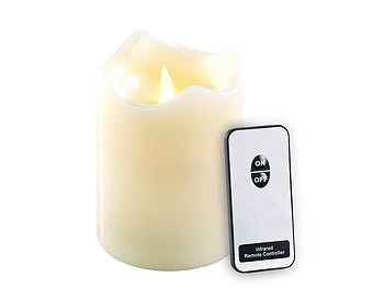 LED Teelicht Groß  flackernd XL Teelichter elektrisch Kerze Kerzen 10 Stück