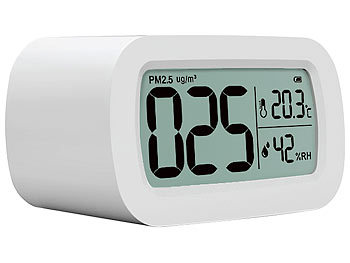 PM2,5-Feinstaub-Messgerät mit Temperatur- und Luftfeuchtigkeitsanzeige / Feinstaubmessgerät