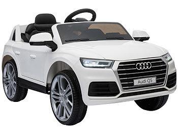 Kinderauto Audi Q5, bis 7 km/h, Fernsteuerung, MP3, weiss / Kinderauto