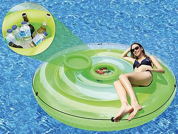Aufblasbare XXL-Badeinsel mit abnehmbarem Getränkekühler / Badeinsel
