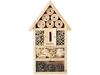 Insektenhotel aus Naturholz und Bambus