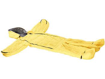 semptec jumpsuit schlafsack kinder schlafsack mit armen und beinen gr e m bis 155 cm gelb. Black Bedroom Furniture Sets. Home Design Ideas