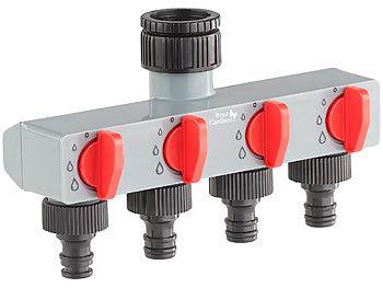 Wasserverteiler 4 Wege Verteiler für Wasserhahnanschluss Schlauchverteiler