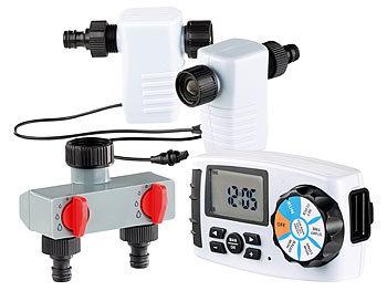 Starter-Set: Bewässerungscomputer BWC-400 mit 2 Schlauch-Anschlüssen / Bewässerungscomputer
