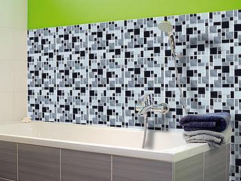 infactory selbstklebende 3d mosaik fliesenaufkleber modern 26x26 cm 15er set. Black Bedroom Furniture Sets. Home Design Ideas