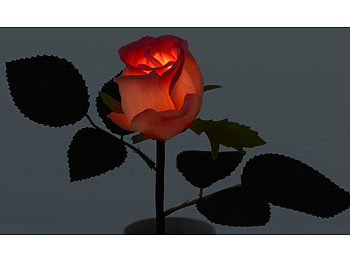 lunartec blumen led rose real touch mit led bl te 28 cm rosa kunstblumen. Black Bedroom Furniture Sets. Home Design Ideas
