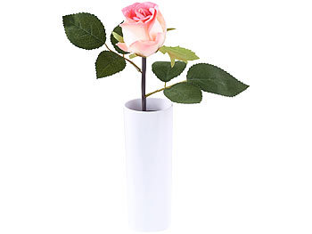 lunartec kunstblumen led rose real touch mit led bl te 28 cm rosa lichterbaum rose. Black Bedroom Furniture Sets. Home Design Ideas