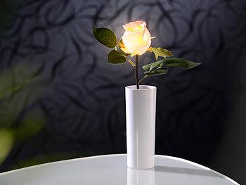 lunartec kunstblumen led rose real touch mit led bl te 28 cm rosa blumenstrau rose. Black Bedroom Furniture Sets. Home Design Ideas