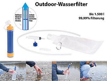 Semptec Urban Survival Technology Universeller Outdoor-Wasserfilter Plus, Filterung 99,99 %, bis 1.500 l Semptec Urban Survival Technology Outdoor-Wasserfilter