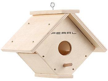 pearl vogelhaus nistkasten bausatz aus echtholz mit 6. Black Bedroom Furniture Sets. Home Design Ideas