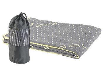 2in1-Mikrofaser-Yoga-Handtuch & Auflage, saugfähig, rutschfest, grau / Yogamatte