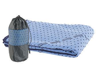 2in1-Mikrofaser-Yoga-Handtuch & Auflage, saugfähig, rutschfest, blau / Yogatuch