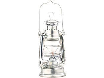 verzinkt Nostalgische Petroleum-Sturmlaterne mit Glaskolben 30 cm Öllampen